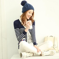 new 2014 cardigan women, striped sweater, casual dress, patterns womens sweater cartoon, aztec sweater