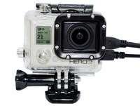 Skeleton Protective waterproof housing with Lens gopro 3 waterproof case with side opening for gopro hd hero 3 camera