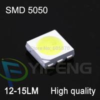 Free shipping ultra bright led smd 5050 chip led lamp 12-15lm 0.18w smd leds warm white for led light string par light celling#