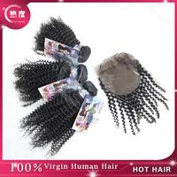 Qingdao Hot Hair New Products Hair weaves Mongolian Virgin Kinky Curly Hair weaves Bundles with Closure, 4pcs/lot