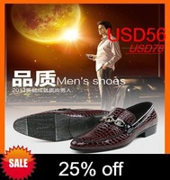 2014 Fashion Bussiness Leather Shoes Men Brands New FASHION Pointed Toe Leather Shoes FLATS SHOES Male