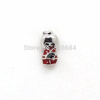 New red enamel Japanese Floating Charms Style Diy Charm For Bracelets Locket Making