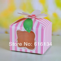 """Wholesale - Free shipping 100pcs/lot """"I am Princess"""" PVC window 4 cupcake boxes include of insert and tag"""