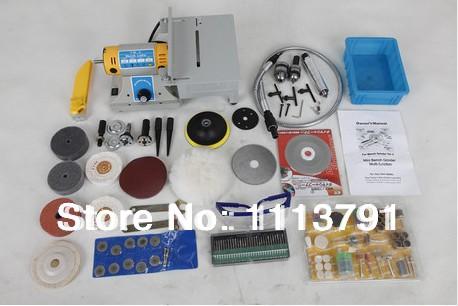 Многофункциональный мини токарный станок электрический шлифовальный станок / полировщик / бурильщик / жатки 350 Вт приходят с 170 шт. аксессуары