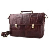 2014 New Vintage Style Brand Genuine Leather Briefcases For Men Business Travel Bag Laptop Shoulder Bag Messenger Bag Handbag