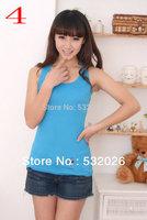 Summer Dress 2014 sleeveless t-shirt women Top Sales of Women's Tanks Top vest Free Shipping Promotion