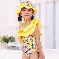 2014 South Korean children spend oblique shape piece swimsuit bikini girls cute little princess