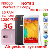 "N9000 Manufacturer Sale  Concessions 5.7"" Note 3 Phone Air Gesture Android 4.3 MTK6589 Quad Core Phone Eye Control 1280*720 3G"