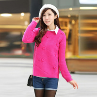 new 2014 women sweater dresses, pink sweater, women fashion pullovers, yellow sweater, casual dresses free shipping