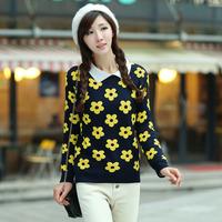 sweaters 2014 women fashion, tunics women long sleeve, yellow sweater, Club designs, knitted sweater, pullover women