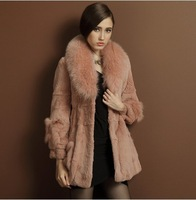 2014 high quality rabbit fur coat large fox fur medium-long lj9208 Y8P0