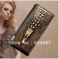 New 2014 British Designer handbags high quality Genuine Leather Crocodile motif women Purses card Holder Portefeuille wholesale