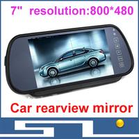 """7"""" TFT LCD Monitors Digital Car Rear view Color Camera  Monior,TV Signal input, display resolution 800x480,free shipping"""