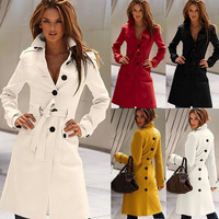 2014 New After Split Turn-down Collar Slim Long Wool Blend Coat For Women,Sexy Winter Jackets Women's Clothing S/M/L/XL NS004