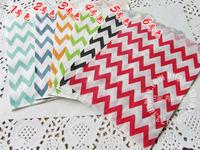 PP023 Free shipping (100pcs/lot) Colorful Chevron Favor Bags, Bitty bag, Party Food Paper Bag 11 colors 13*16cm