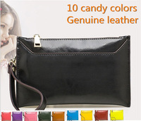 women leather handbags/10 candy color cluth bags/evenlop style/phone case high quality low price