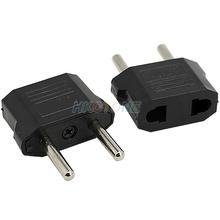US to EU AC Power Plug Travel Converter Adapter Household Plugs Wholesale Free Shipping 07UR(China (Mainland))