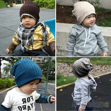 5 Colors  Baby Kids Infant Toddler Beanie Hat Warm Winter Boys Girls Cap Children Accessories 1JBC(China (Mainland))