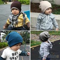 5 Colors  Baby Kids Infant Toddler Beanie Hat Warm Winter Boys Girls Cap Children Accessories 1JBC