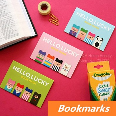 24 pcs in 6 set Magnetic Bookmarks Lucky boy Metal bookmark Book Page Holder stationary office materials School supplies 6438(China (Mainland))