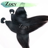 Cheap Straight Pure Hair Extension Best Quality Hair  3PCS Lot  Mix Length Natural Straight  Color 1B  Hair