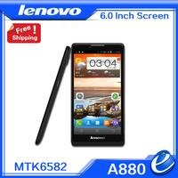 Lenovo A880 smart phones MTK6582 Quad Core 1.3GHz 6 inch  1GB RAM 8GB Dual SIM WiFi WCDMA GPS