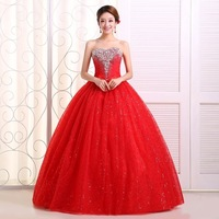 2015 Wedding Dresses formal dress bandage lacing  red wmz formal dress red wedding dress bridal gown D179