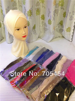 HW025b new designs cotton double cross ninja,full underscarf to cover neck free shipping,fast delivery,assorted colors