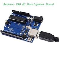 UNO Rev3 Development Board Microcontroller MEGA328P ATMEGA16U2 Compat with USB Cable for Arduino Free Shipping Dropshipping