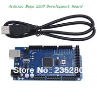 Mega 2560 ATMEGA8U2 ATmega2560-16AU Development Board Compat + USB Cable for Arduino Free shipping - Blue (Best prices!)