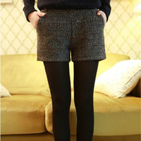 Maternity Clothing Maternity Woolen Suit Shorts Boot Cut Black XL Maternity Shorts Pregnant Free Shipping