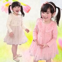 Free shipping 2014 Korean version of children's clothing children dress children baby clothing baby girls dress