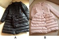 New Womens Stand Collar Black Bow Waist Fluffy Slim Long Down Padded Jacket Coat pink/black/White/Rose/dark blue/M L XL XXL