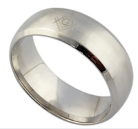 Titanium  steel The Masonic Rings Titanium Men's jewelry Men's Religious Rings mason for men or women US Size6.7. 8.9.10.11.12
