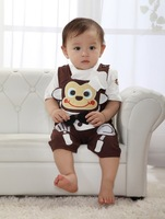 Cute Infant Rompers Animal Baby Clothes Sets(Top+Pants)Spring&Summer&Autumn Infant Clothing Sets(0-24M Old)Short&Full Sleeve