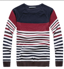 2014 New Arrival Fashion  Sweater For Men Stripe Sweater For Men Free Shipping MZL044(China (Mainland))