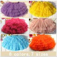 2014 Real Children's Clothing Girls Spring Summer Lace Tutu Skirt Miniskirt Dancing ball gown skirt