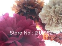 Free Shipping 75pcs mixed (10CM,15CM,20CM) Tissue Paper Pom Poms Wedding/Party/Birthday/Baby shower/Nursery  decoration