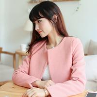 Korea Hot! s556 2014 spring women's woolen outerwear female sweet woolen top long-sleeve wool coat,Plus Size L