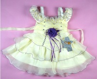 1 pcs, 2014 summer new arrival flower princess girl tutu dress, Party Wedding Birthday girls dresses, baby girls' dress