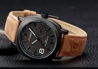 curren watches men leather 3ATM waterproof Quartz Business Watches fashion military Army Wristwatch relogios masculino sporte