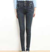 2014 spring new jeans pencil pants Korean version thin waist jeans pants ladies trousers wholesale