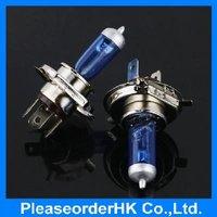 2pcs Car H4 Halogen Xenon Light Low Beam P43T Bulbs Super White 6000K 12V 60/55W
