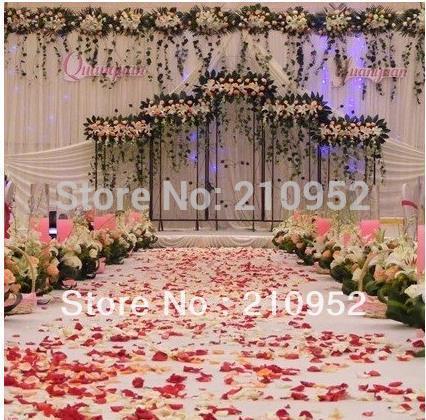 Free Shipping 1000pcs/lot Romantic Wedding Decorations Rose Petals Fashion Artificial Rose Flowers(China (Mainland))