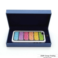200% handmade swarovski rainbow design Hybrid bling crystal case for iphone 4 4s 4G 5 5s 5G cover