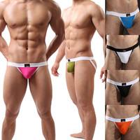 Fashion Sexy Lingerie Men's Jockstrap Boxer G-Strings&Thongs Trunks Underwear Bodysuit  Nightwear Free Shipping Size M/L/XL#JJ16