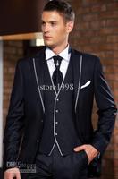 2014 Groom Tuxedos Best man Suit Wedding Groomsman/Men Suits Bridegroom (Jacket+Pants+Tie+Vest) Z143