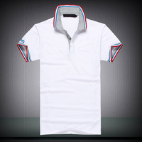 HOT!Free Shipping 2014 New Men's Casual Slim Fit Stylish Short-Sleeve Shirt Cotton T-shirt Size:M-XXL