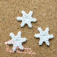 15*15mm 30pcs resin snowflake. cabochon resin ornament