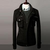 Free Shipping 2014 new Slim Korean jacket suede motorcycle jacket casual winter coat tide male coat